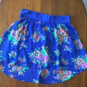 NWOT Aèropostale Azure High Low Skirt